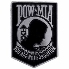 POW*MIA Small Pin