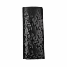 "4"" Embossed Flames Black"