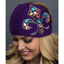 Knit Headband BlaingFleurDeLis