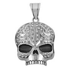 Zipper Pull Tribal Skull