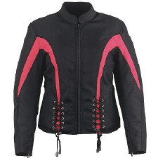 Ladies Textile Jacket W/Laces