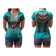 Ladies SS T-Shirt Guns N Wings