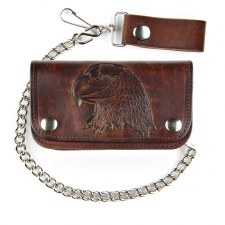 "6"" Antique Biker Wallet Eagle"
