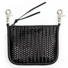 Basket Weave Clip Pouch W/Zip
