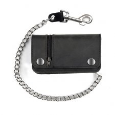"6"" Biker Wallet W/Side Zipper"