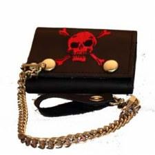 Skull  Tri-Fold W/ Chain