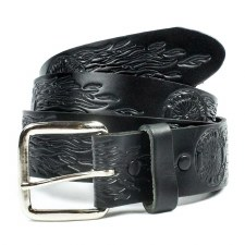 "1 1/2"" Flaming Wheel Belt Blk"