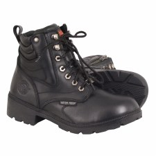 Ladies WP Side Zipper Boot Blk