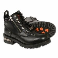 Ladies Double Zipped Boot Blk