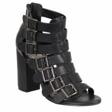 """Ladies 7 Buckle 3"""" Heel Sandal"""