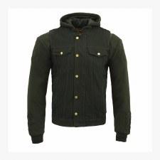 Men's Hooded Demin Vest Black