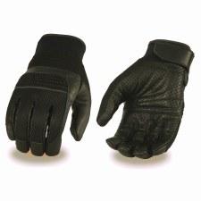 Men's Leather & Mesh Glove