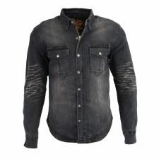 Men's Armored Denim Shirt Blk