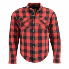 Men's Armored Denim Shirt Bk/R