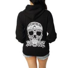 Juniors Zip Hoodies Moto Skull