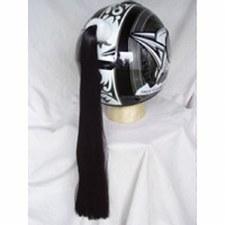 Helmet Pony Tails Black