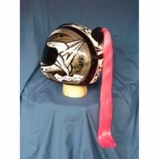 Helmet Pony Tails Pink