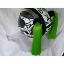 Helmet Pig Tails Green