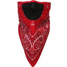 FaceFit Facemask Red Paisley