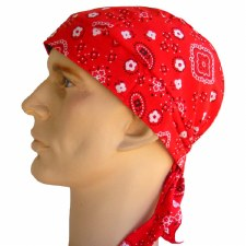 Red Paisley Headwrap