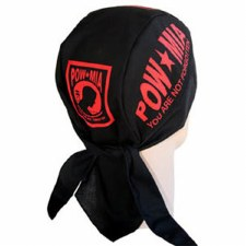 POW*MIA Red Headwrap