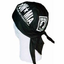 POW*MIA White Headwrap