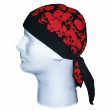 Small Skulls(Red) Headwrap