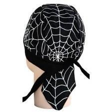 Skull Cap White Spider Web