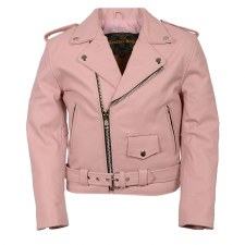 Kid's Basic MC Jacket Pink