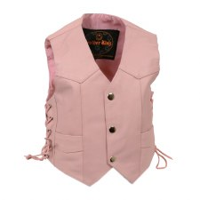 Kids Side Lace Vest Pink
