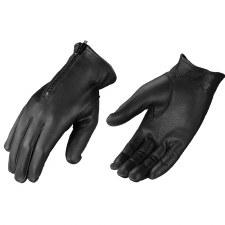 Lined Glove W/Zipper Black