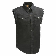 Men's Denim Sleeveless Shirt