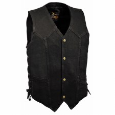 Men's Denim Vest W-Laces