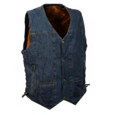 Men's 10 Pocket Demin Vest Blu
