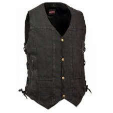 Men's 10 Pocket Denim Vest Bk
