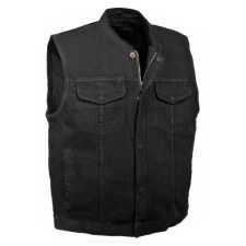 Men's Denim Club Vest Black