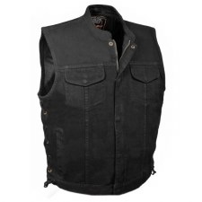 Men's Laced Denim Club Vest