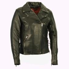 Ladies MC Jacket With Lacing