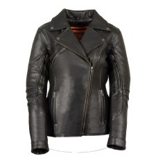 Ladies Vented MC Jacket Black