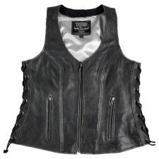 Ladies Side Lace Vest DisGrey