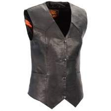 Ladies Basic Vest Black