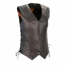 Ladies Basic Side Laced Vest