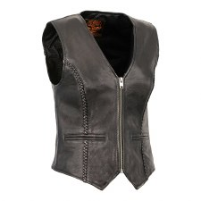 Ladies Zippered Braided Vest