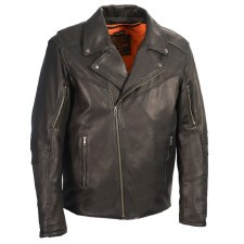 Men's Vented MC Jacket Blk
