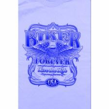 Ladies T-Shirts Biker Blue