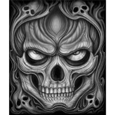 Men's T-Shirt Jumbo Skull Bk