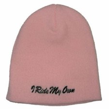 I Ride My Own Knit Cap/Pink