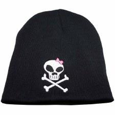 Skull Bow Knit Cap