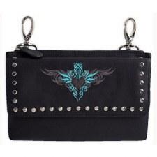 Ladies Clip Bag W/Tribal Heart