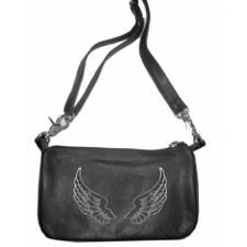 Ladies Clip Bag W/Wing Grey